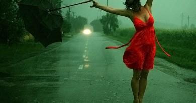 mergina lietus orai