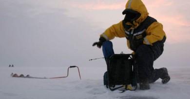 žvejai ledas