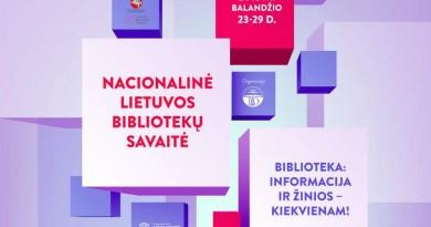 nacionalinė bibliotekų savaitė