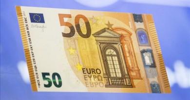 Naujas 50 eurų banknotas