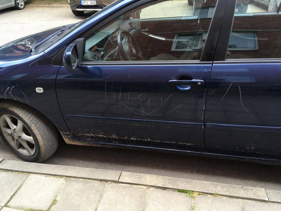 Kaišiadoryse vandalai suniokojo automobilius (1)