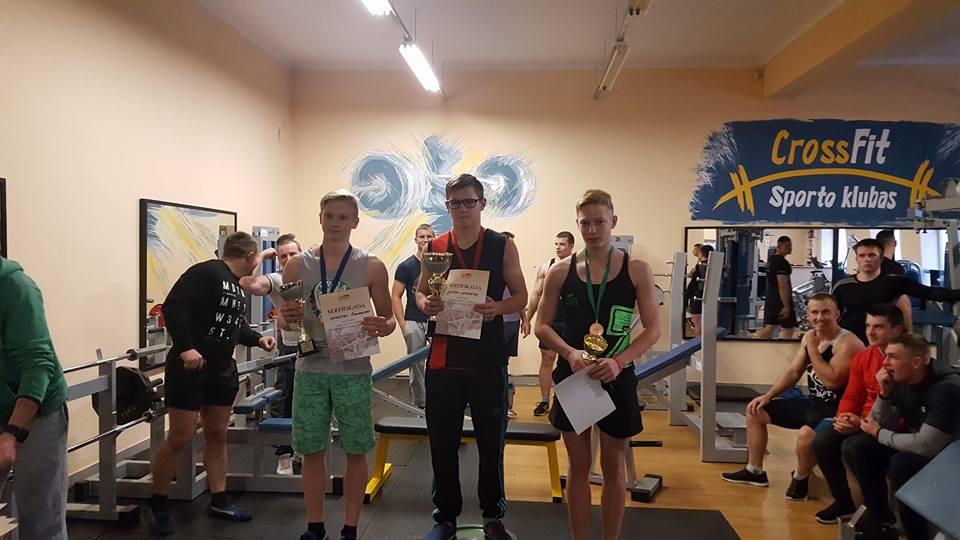 štangos spaudimas Athletic Gym Kaišiadorys jauniai