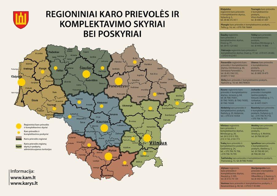 Regioniniai karo prievolės ir komplektavimo skyriai ir centrai