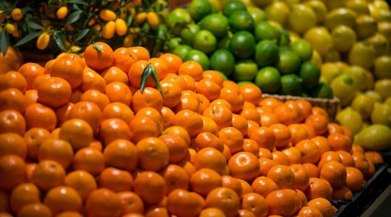 citrusiniai vaisiai mandarinai citrinos