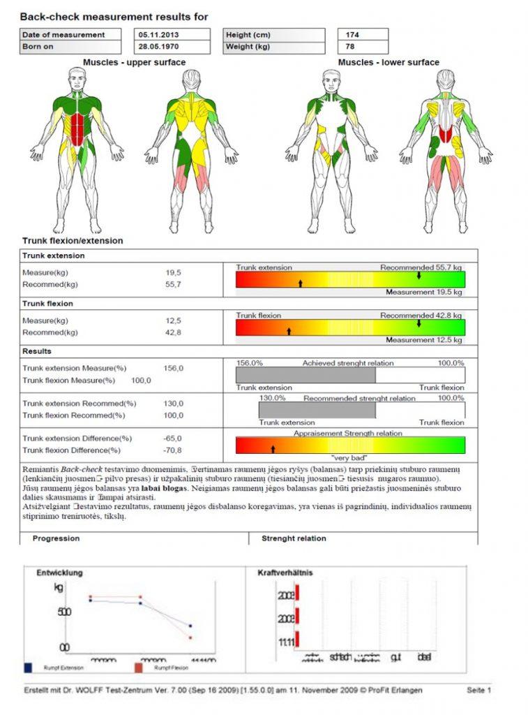 Raumenų skausmo tyrimas
