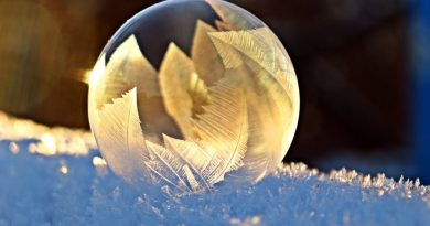 sniegas žiema muilo burbulas