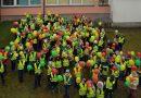 Spalvota Kaišiadorių Vaclovo Giržado progimnazijos pradinukų akcija Lietuvos gimtadieniui