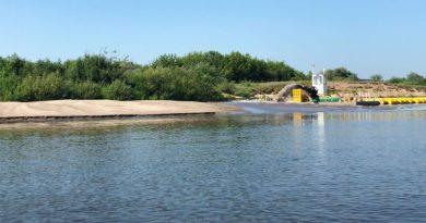 Dėl sausros keičiasi ir upės vagos